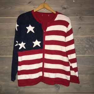 80's Patriotic sweater. Flag sweater 🇺🇸